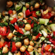 Chickpea Salad with Lemon Mint Vinaigrette
