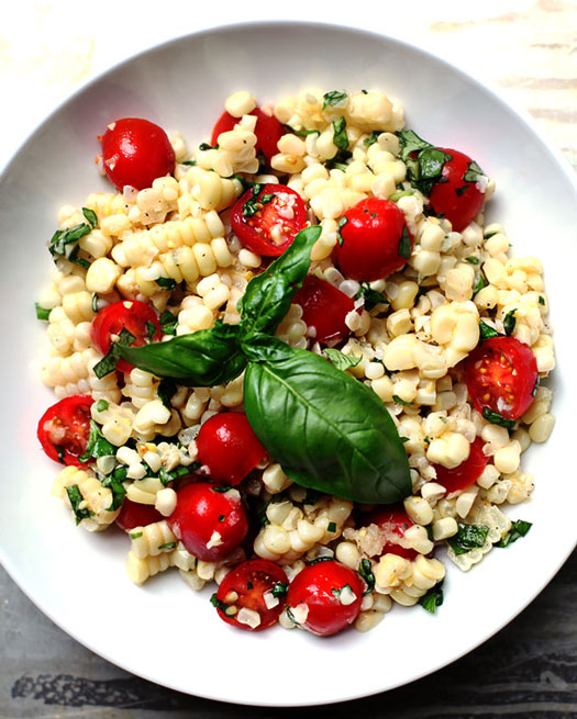 Corn, Tomato, And Basil Pasta Recipe — Dishmaps