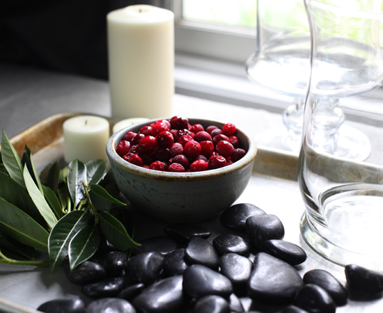 How to Make Easy Holiday DIY Cranberry Candle Centerpieces