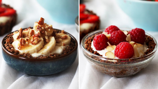 banana walnut tart Yogurt Granola Fruit Tart