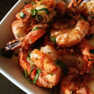 Salt and Pepper Garlic Prawns