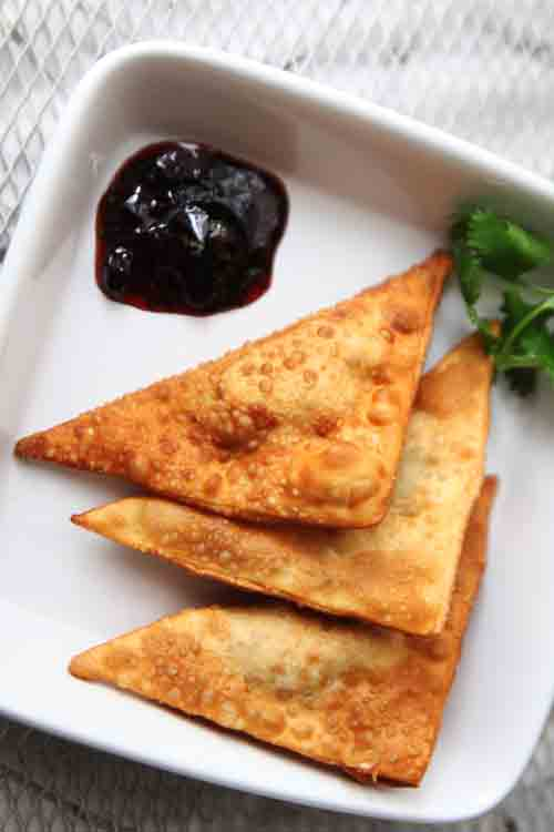 Sweet and Spicy Cherry Cilantro Shrimp Rangoon Recipe
