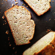 Sweet Zucchini Bread Loaf