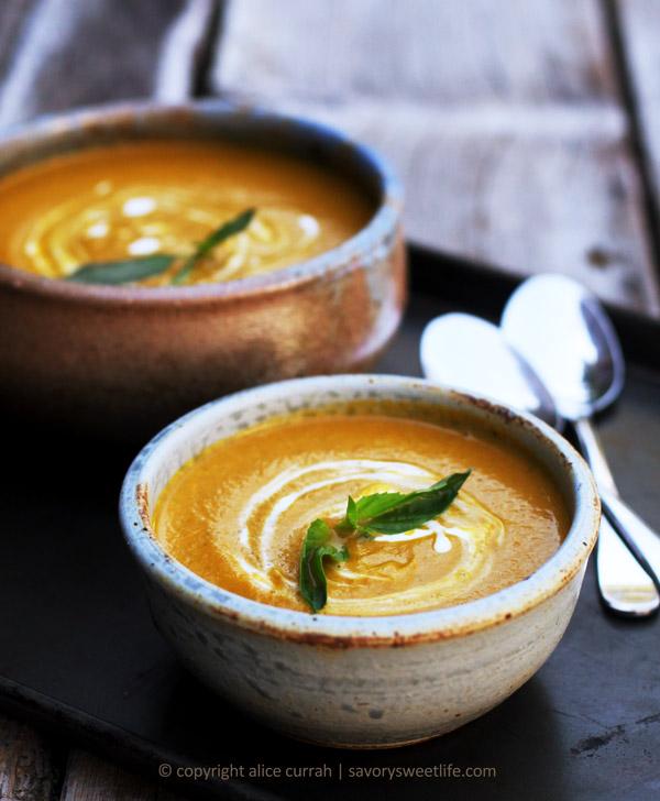 Autumn Carrot Basil Soup