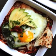 Fire Roasted Poblano Pepper and Eggs