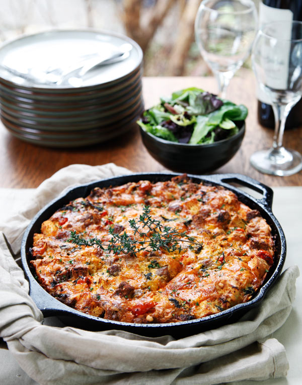Sausage Kale Tomato Strata Recipe | Easy Recipes, Tips, Ideas, and ...