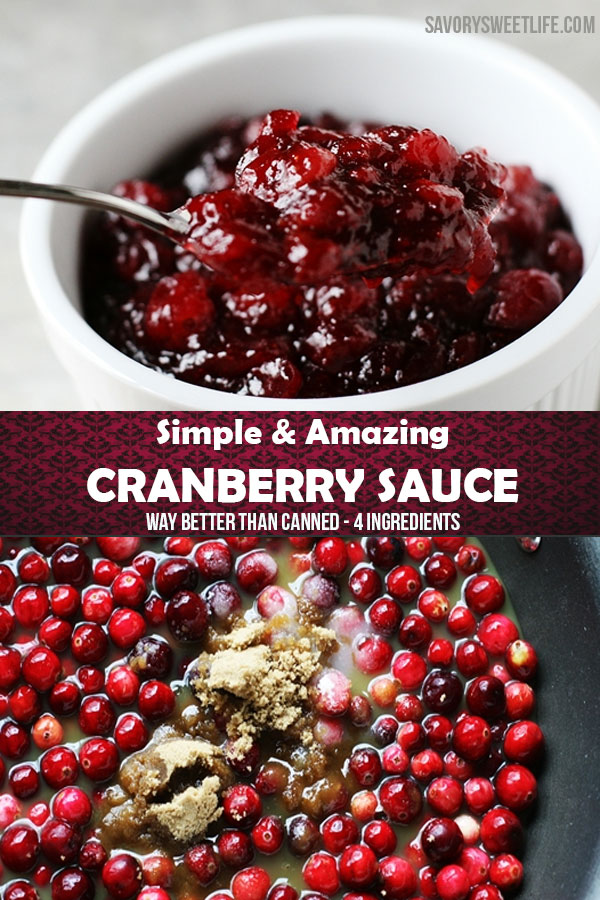 Cranberry Sauce with Fresh Cranberries