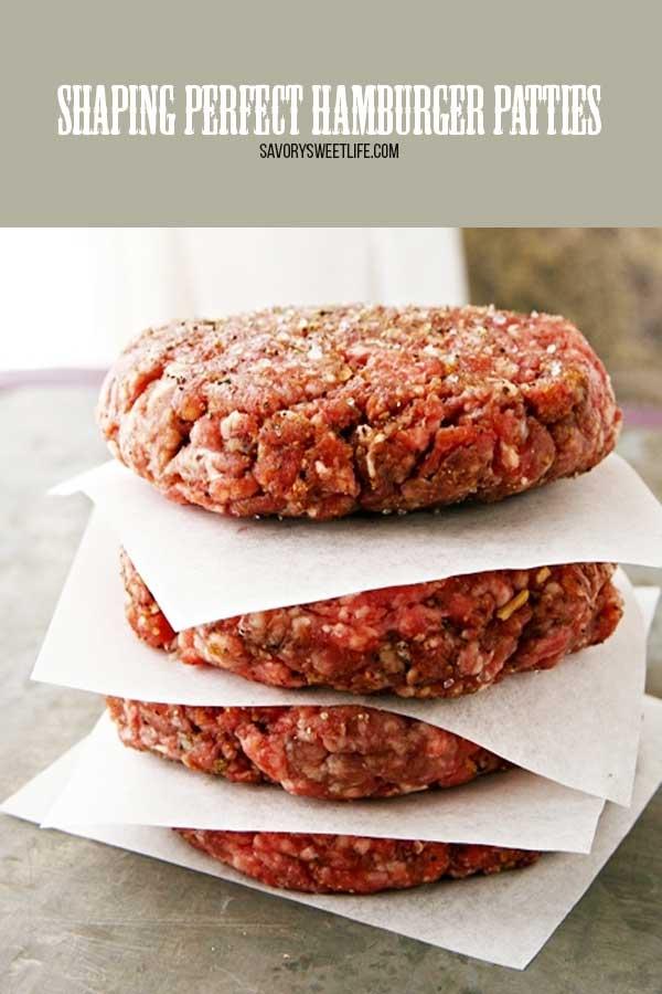 how to shape perfect hamburger patties