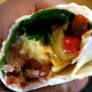United Way Hunger Challenge Recipe:  Fast and Easy – Deluxe Spinach Bacon Breakfast Wrap under $1