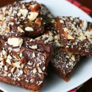 You must make these!  Almond Chocolate Toffee Crunchies