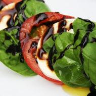 Insalata Caprese Salad Recipe with a Balsamic Brown Sugar Reduction