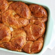 Bourbon Croissant Bread Pudding Recipe