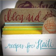Blog Aid – Recipes For Haiti Cookbook