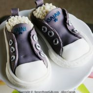 {Kids Birthday Cake Idea} Converse Sneakers Cake