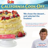 I'm going to Los Angeles for the Dole Cook-Off!