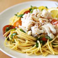 Dungeness Crab Lemon Basil Pasta