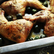 Easy Roasted Chicken Legs with Olives Recipe