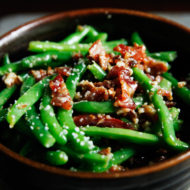 Green Beans with Bacon and Pecans