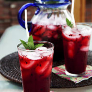 Blackberry Mint Lemonade