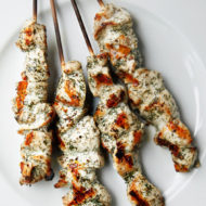 Lemon Dill Chicken Skewers