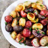 Roasted Baby Potatoes with Truffle Salt