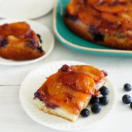 Peach Blueberry Coffee Cake