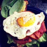 Fried Egg Basil BLT Sandwich