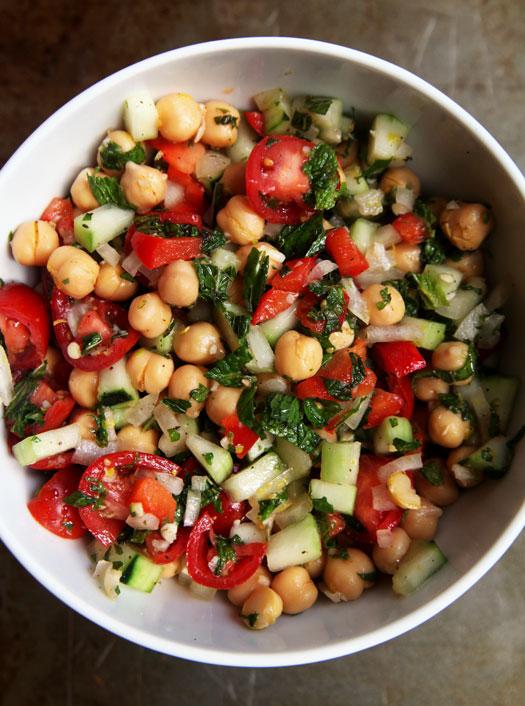 Lemon-Mint-Garbanzo-Bean-Salad