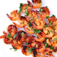 Grilled Apricot Spiced Shrimp