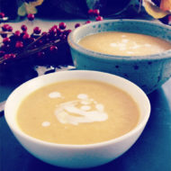 Acorn Squash Peanut Coconut Curry Soup