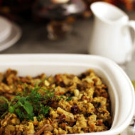 Bacon Apple Cranberry Cornbread Stuffing