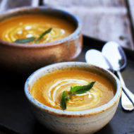 Autumn Carrot Basil Soup