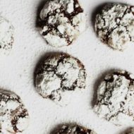 Chocolate Chocolate Chip Mint Crinkle Cookies