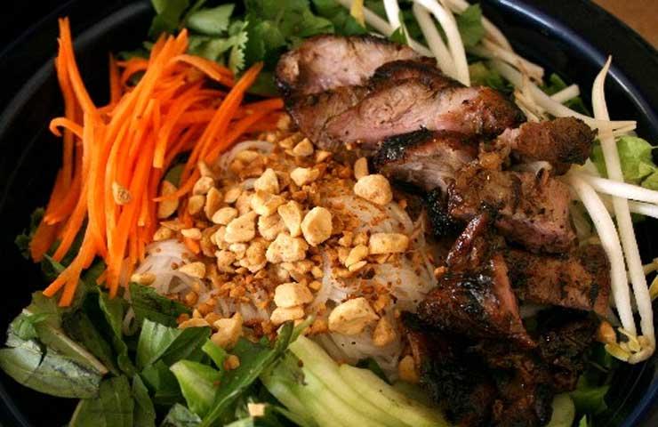 Vietnamese Inspired  BBQ Noodle Pork Salad