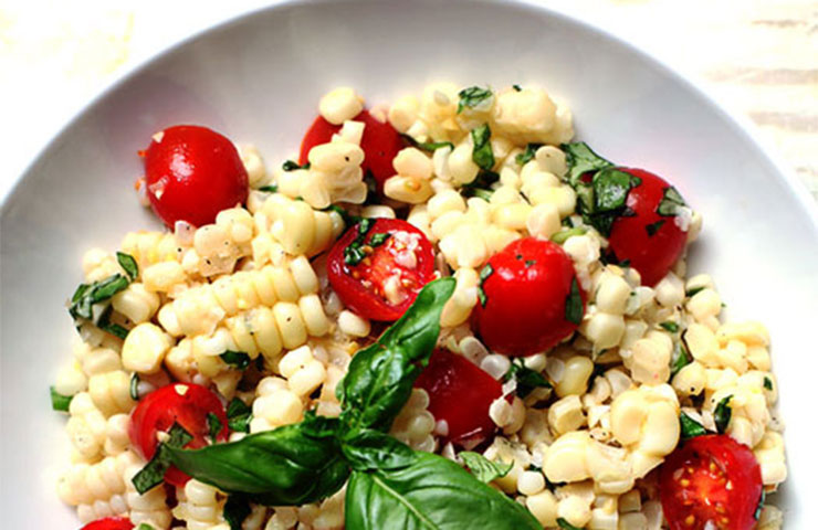 Corn Basil Tomato Salad